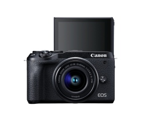 CANON EOS M6 Mark II +EF-M 15-45mm +EVF Kit fekete