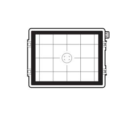 Hasselblad Focusing Screen 60 MP CCD Grid / 100 MP