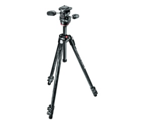 Manfrotto Hobbyist 290 Xtra CF kit 3-way fejjel