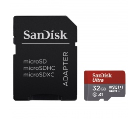 SANDISK microSDHC Ultra 32GB UHS-I A1 +Adapt.