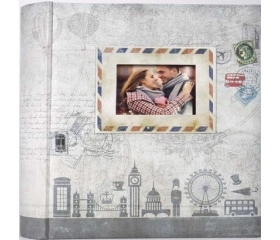 ZEP Ulisse grey 10x15cm 200 Photos Memo Album