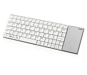 Rapoo E2710 Wireless billentyűzet, touchpad, fehér