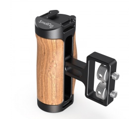 "SMALLRIG Wooden Mini Side Handle (1/4""-20 Screws)"