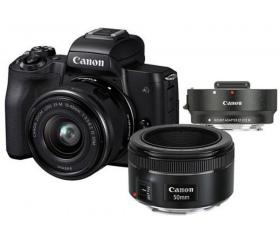 CANON EOS M50 + EF-M 15-45mm + EF 50mm f/1.8 + ada