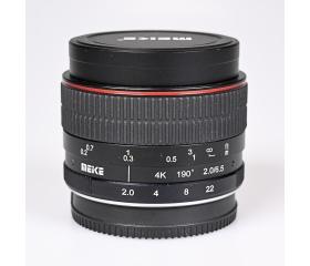 Használt Meike 6,5mm f/2 4K Fisheye 190 fok sn:210