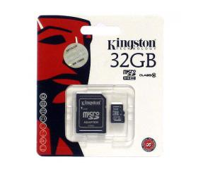 Kingston Micro SD 32GB + SD Adapter CL10