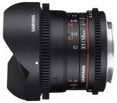 Samyang 12mm T3.1 VDSLR ED AS NCS Fish-eye (Sony A