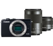 Canon EOS M100 + 15-45mm + 55-200mm kit fekete