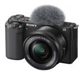 SONY ZV-E10 + 16-50mm F/3.5-5.6 Fekete Vlogkamera