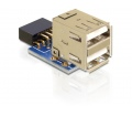 Delock USB 9pin header female -> 2 x USB 2.0 femal
