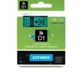 DYMO címke LM D1 alap 12mm Fekete/Zöld