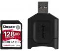 Kingston Canvas React Plus SDXC 128GB + kártyaolv.