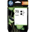 HP 711 80 ml-es 2 darabos fekete