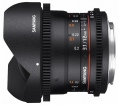Samyang 12mm T3.1 VDSLR ED AS NCS Fish-eye (Sony E