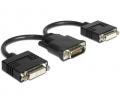 Delock Adapter DMS-59 apa>2 x DVI 24+5 anya, 20 cm