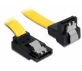 Delock kábel SATA 6 Gb/s fel/le fém, 70 cm