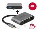 Delock USB-C adapter HDMI-hez és VGA-hoz