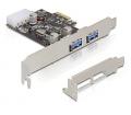 Delock PCI Express kártya > 2 x USB 3.0