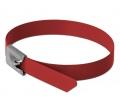 Delock r.m. acél kábelkötegelők 400mm 10db piros