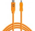 TT TetherPro USB Type C > Mini-B 8pin 4.6m narancs