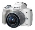 CANON EOS M50 + EF-M 15-45mm Kit fehér